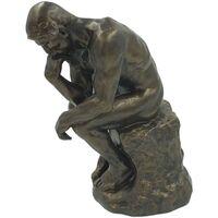 Maison & Déco Statuettes et figurines Muzeum Reproduction du Penseur de Rodin - 25 cm Marron