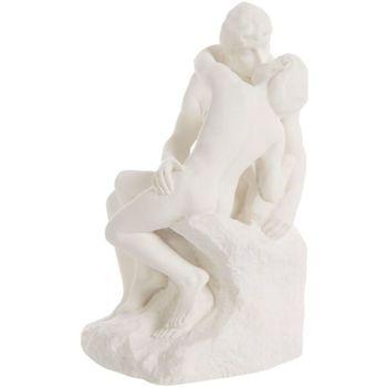 Maison & Déco Statuettes et figurines Muzeum Reproduction Le Baiser de Rodin 14 cm Blanc