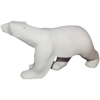 Maison & Déco Statuettes et figurines Muzeum Statue L'ours Blanc de François Pompon 11 cm Blanc