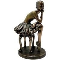 Maison & Déco Statuettes et figurines Danseuse - Ballerine Statuette Danseuse de collection aspect bronze 19 cm Doré