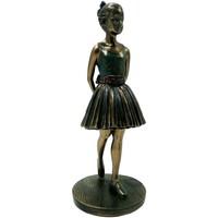 Maison & Déco Statuettes et figurines Danseuse - Ballerine Statuette Danseuse de collection aspect bronze 20 cm Doré
