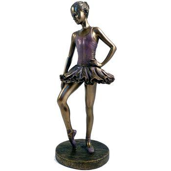 Maison & Déco Statuettes et figurines Danseuse - Ballerine Statuette Danseuse de collection aspect bronze 25 cm Doré