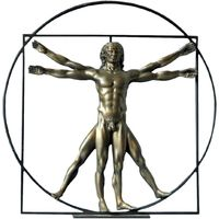 Maison & Déco Statuettes et figurines Muzeum Statuette de collection Léonard de Vinci - l'homme de Vitruve Marron