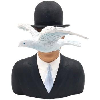 Maison & Déco Statuettes et figurines Muzeum Statuette de collection Magritte - L'homme au Chapeau Melon Noir
