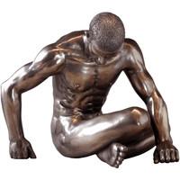 Maison & Déco Statuettes et figurines Retro Statuette en résine Homme nu Doré