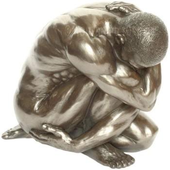 Maison & Déco Statuettes et figurines Retro Statuette en résine Homme nu 15 cm Doré