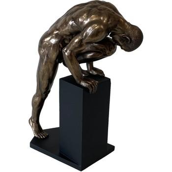 Maison & Déco Statuettes et figurines Retro Statuette en résine Homme nu 34 cm Doré