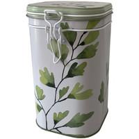 Maison & Déco Paniers, boites et corbeilles Zen Et Ethnique Boite métallique pour le thé Blanc