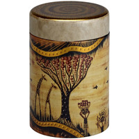 Maison & Déco Paniers, boites et corbeilles Zen Et Ethnique Boite Savanne pour le thé Contenance 125 gr Jaune