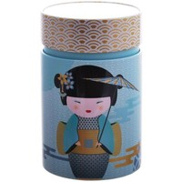 Maison & Déco Paniers, boites et corbeilles Zen Et Ethnique Petite boite Little Geisha pour le thé Contenance 150 gr Bleu