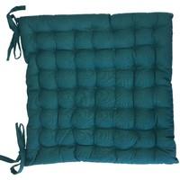 Maison & Déco Coussins Retro Assise de chaise matelassée en coton bleu paon Bleu