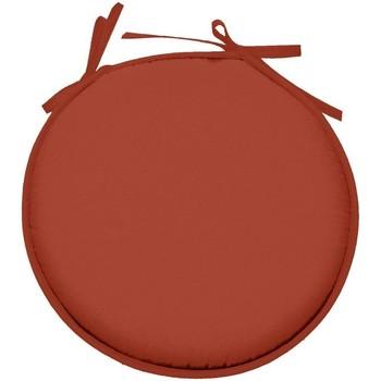 Maison & Déco Coussins Retro Galette de chaise ronde en polyester Rouge