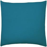 Maison & Déco Taies d'oreillers, traversins Essix Taie d'Oreiller Paon Tendresse en gaze de coton lavée Bleu