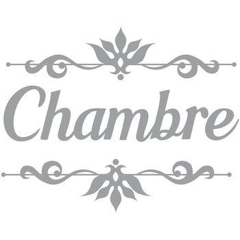 Maison & Déco Stickers Retro Sticker décoratif de porte CHAMBRE Gris