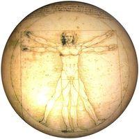 Maison & Déco Statuettes et figurines Muzeum Presse papier en verre par Léonard de Vinci Jaune
