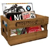 Maison & Déco Paniers, boites et corbeilles Retro Casier en bois brut Nostalgic-Art - LIVRE VIDE Beige