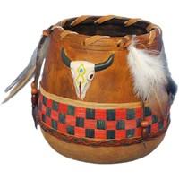 Maison & Déco Vases, caches pots d'intérieur Indiens D'amérique Vase déco d'inspiration Amérindienne 13 cm Marron