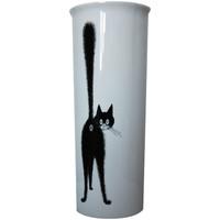 Maison & Déco Vases, caches pots d'intérieur Les Chats De Dubout Vase en céramique Allongé Chats par Dubout Blanc