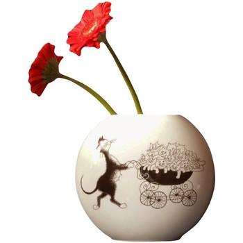 Maison & Déco Vases, caches pots d'intérieur Les Chats De Dubout Vase en céramique Oval Chats par Dubout Blanc
