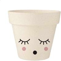 Maison & Déco Vases, caches pots d'intérieur Retro Cache Pot Ohhhhhh en Bambou 8.5 cm Beige