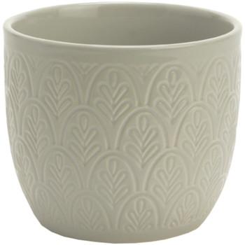 Maison & Déco Vases, caches pots d'intérieur Zen Et Ethnique Pot de Fleur en céramique - Gris Gris