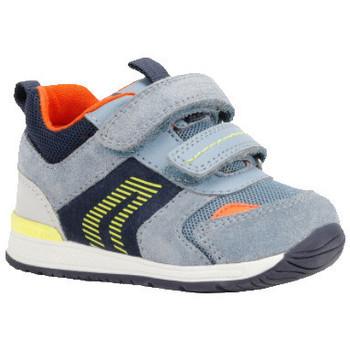 Chaussures Garçon Baskets basses Geox Basket b rishon bb bleu
