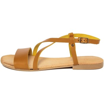 Chaussures Femme Sandales et Nu-pieds Lionellaeffe Eccellenza Toscana  Giallo