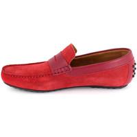 Chaussures Homme Mocassins J.bradford JB-BERFIN ROUGE Rouge
