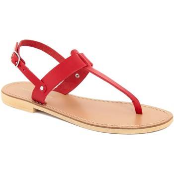 Chaussures Femme Tongs Donna Toscana  Rosso
