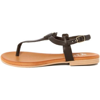 Chaussures Femme Tongs Alissa  Marrone