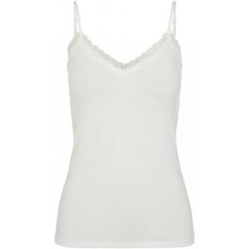 Vêtements Femme Tops / Blouses Pieces Top dentelle Taille : F Blanc XS Blanc