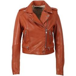 Vêtements Femme Vestes en cuir / synthétiques Oakwood Blouson style perfecto  Kyoto en cuir ref 4 Orange