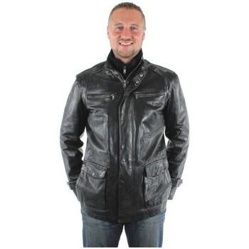 Vêtements Homme Vestes en cuir / synthétiques Daytona Veste en cuir ref_day25542-noir Noir