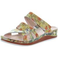 Chaussures Femme Mules Laura Vita Sandales  cuir ref 51971 Jaune Jaune