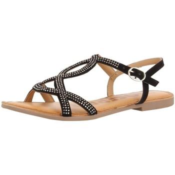 Chaussures Femme Sandales et Nu-pieds Gioseppo Sandales plates  Conover ref 52430 Noir Noir