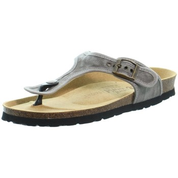 Chaussures Femme Tongs Natural World Sandales  ref 52180 Gris Gris