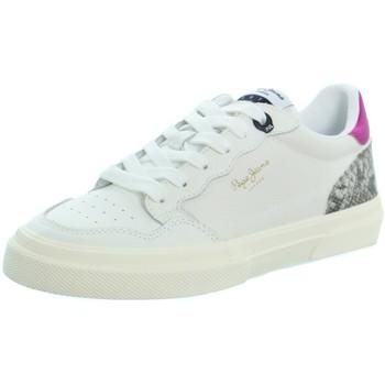 Chaussures Femme Baskets basses Pepe jeans Baskets  Kenton Original ref_51050 Blanc Blanc