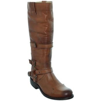 Chaussures Femme Bottes ville Sendra boots Bottes  City Salvaje en cuir ref_sen36073-miel Marron