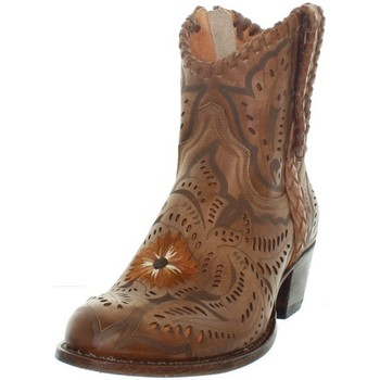 Chaussures Femme Bottines Sendra boots Bottes  Deborah en cuir ref_sen43408 Marron Marron