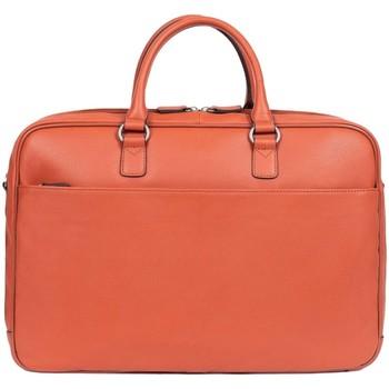 Sacs Porte-Documents / Serviettes Hexagona Serviette  en cuir ref 47995 Orange 43*29*9 Orange