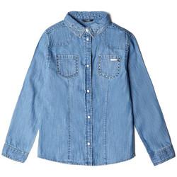 Vêtements Fille Chemises / Chemisiers Guess Chemise Fille J84H05 DENIM LS SHIRT Bleu (rft) Bleu