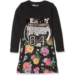 Vêtements Fille Robes Desigual robe fille Montpellier noir 17WGVK69 Noir