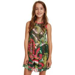Vêtements Fille Robes Desigual Robe fille 19SGVK37 Nuakchot vert Vert