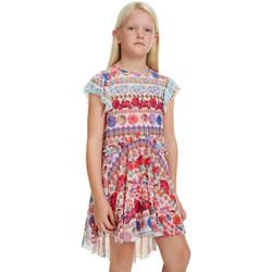 Vêtements Fille Robes courtes Desigual Robe fille 19SGVK54 Franckfort blanc Blanc