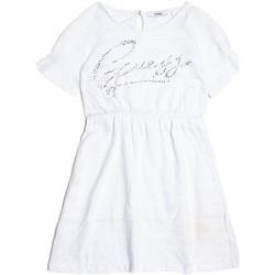 Vêtements Fille Robes Guess Robe brodée avec Strass Blanc J82K04 Blanc