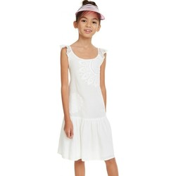 Vêtements Fille Robes Desigual Robe fille Oklahoma blanc 19SGVW22 (rft) Blanc