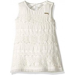 Vêtements Fille Robes Guess Robe fille broderie et dentelle blanc J91K19 (rft) Blanc