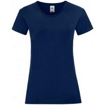 Vêtements Femme T-shirts manches courtes Fruit Of The Loom 61444 Bleu marine