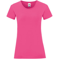 Vêtements Femme T-shirts manches courtes Fruit Of The Loom 61444 Fuchsia