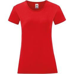 Vêtements Femme T-shirts manches courtes Fruit Of The Loom 61444 Rouge